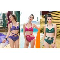 China Stretchy Mermaid Two Piece Bathing Suit Breathable Adjustable Halter Straps on sale