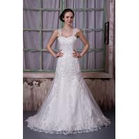 Quality New Designer Strap Sweetheart Ivory Mermaid Romantic Lace Wedding Gowns Dresses With Beads for sale