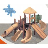 China rotational moulding slide wooden outdoor playground equipment on sale
