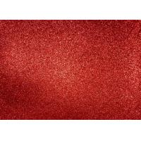 Magenta Red Glitter Fabric For Dresses , Cold Resistance Shiny Glitter Fabric