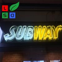 Buy cheap Acrylic Led Signage Led Neon Light Hand Made Logo Sign For Subway Using from wholesalers