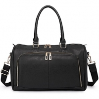 PU Leather Tote Baby Diaper Backpack Duffle Bag For Mummy