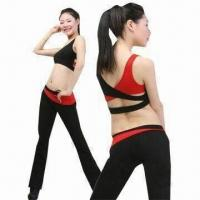 China Sweatsuit/Yoga Clothing with Comfortable to Wear Feature, Made of 95% Organic Cotton and 5% Spandex on sale