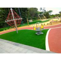 China Outdoor Playground Soft Rubber Flooring / Weatherproof Rubber Granules Flooring on sale