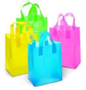 China Polythene Loop Handle Plastic Bags on sale