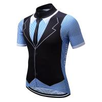 China Outdoor Cyclist's Clothing Riding Jersey Cycling Wear Racing Men Maillot Ciclismo Anti-Sweat Polyester Sport T-shirt on sale