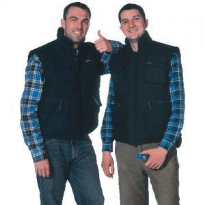 Black warm Winter Uniform Work Shirts mens cotton vest with zipper