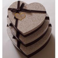 China Heart shaped Decorative Luxury Recycled Gift Paper Box , Cream Paper Box For Chocolate on sale
