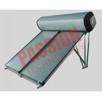 Compact Swimming Pool Solar Water Heater Flat Plate Black Chrome Coating