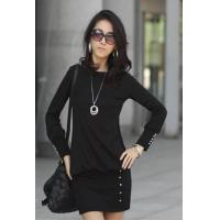 China Hot Sale Stylish Ladys Cotton Long Dress on sale