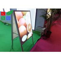 Quality Double Sided LED Poster Display A Shaped With Aluminium Frame Profile for sale