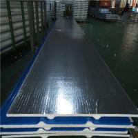 Quality 30mm silver paper polyurethane foam sandwich roof panel 840-30-0.376mm for house for sale