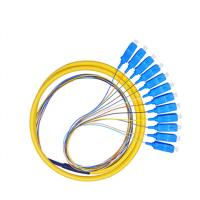 China SC APC Connector Fiber Optic Pigtail , 1260-1650nm Wavelength OM3 Pigtail on sale