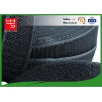Quality 50Mm Wide Black Hook And Loop Tape / Male And Female Hook And Loop Roll Fastening for sale