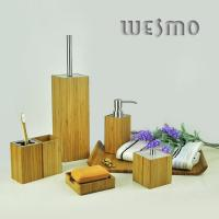 Quality Smooth 7 Piece Bamboo Bathroom Sets, Eco Friendly for sale
