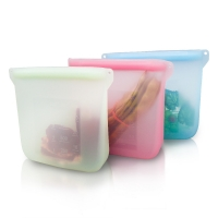 Quality Eco-friendly Reusable Fresh Sealed Silicone Storage Bag for sale