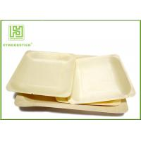 China 3.5 Inch Wooden Biodegradable Plates , Small Square Dinner Plates For Dessert on sale