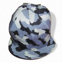 Quality Jacquard Knitted Hat with Peak for sale