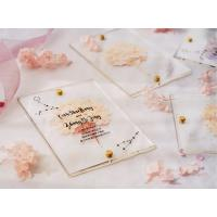 Quality acrylic invitation magnetic wedding and envelope card double layers flower for sale