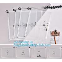 durable clear PVC Slider zipper stand up bag, 100% oxo boidegradable clear pvc slider zip bags, Frosted plastic bag with