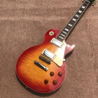 Quality New standard LP 1959 R9 electric guitar, Cherry burst color, frets cream binding, a piece of neck & body, Tune-o-Matic b for sale