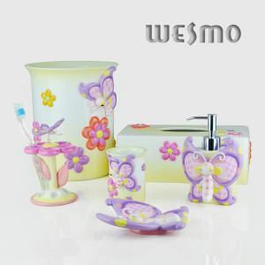 Quality 6 Piece Polyresin Bathroom Set for sale