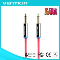 China 1m red gold plated 3.5mm stereo audio cable pure copper male to male plug for phone on sale