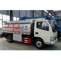 Quality Dongfeng Gasoline Tanker Truck , Q235B Carbon Steel Diesel Refueling Truck for sale