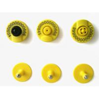 ISO Standard FDX - B Animal Ear Tags Button Type Tracking For Livestock Ear