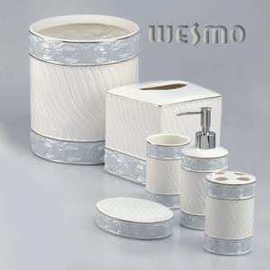 Quality 6 Piece Ceramic Bathroom Accessories Sets for sale