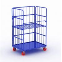 Quality Metal Steel Roll Container Roll Trolley Pneumatic Wheel 200kg Load Capacity for sale