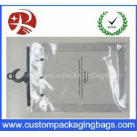 Quality Custom Printing Clear EVA / PVC Hook bag / Hanger Packing Plastic Bag For Clothes for sale