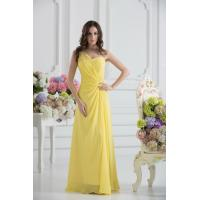 Quality Elegant One Shoulder Sweetheart A-line Chiffon Yellow party Prom Dress Online Shop for sale