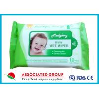 Quality Skin Care Natural Baby Wipes No Chemicals White 10pcs Package 50gsm Weight for sale