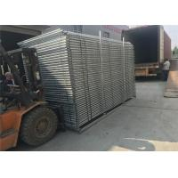 Quality Portable Construction Fencing Panels 6'x12'  Mesh 63mmx63mm diameter 2.9mm hot dipped galvanized 42 microns at all welds for sale