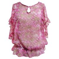 Buy Beautiful Batwing Sleeve Chiffon Ladies Fashion Blouses and shirts at wholesale prices
