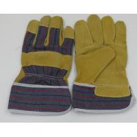Quality 10 inch pig Leather with cotton back Working Gloves for sale