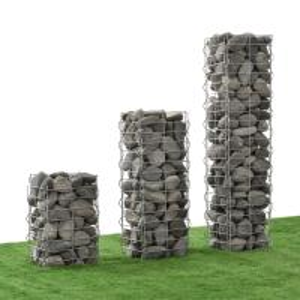 Quality Landscape Gabion Pillars/Towers, Stone Columns, Gabion Columns for Garden for sale