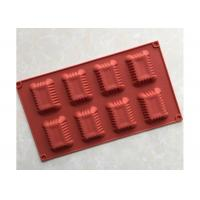 Quality 8 Cubes , Rectangular , Oil Resistance , DIY Silicone Chocolate Tray for sale