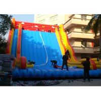 Cheap Commercial Giant Plato 0.55mm PVC Tarpaulin Inflatable Slide For Adults 12 * 8m wholesale