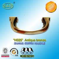 Buy cheap H025 Antique Brass Zamak Metal Coffin Handles With 14cm Screw Distance product