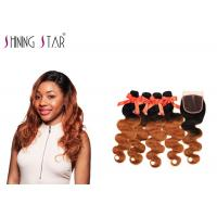 Quality Nonremy Body Wave Hair Extensions Human / No Tangle Natural Body Wave Weave for sale