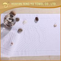China 2014 new style 100% cotton jacquard white thick bath mat for hotel use on sale