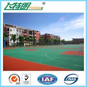 Quality Anti - Slip Sport Court Flooring Rubber Floor Equipment Paint For Indoor Badminton Court Playground for sale