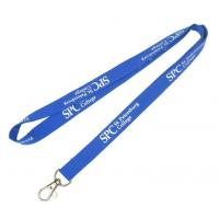China Professional Silk Screen Imprint Polyester Lanyards Customized Color on sale