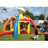 Quality 4 In 1 Colorful Inflatable Sports Games PVC Tarpaulin Portable Combo Game For Kids for sale