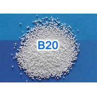 Quality Solid Round Ceramic Blasting Beads 2.3 G/Cm3 Bulk Density For 3C Products for sale