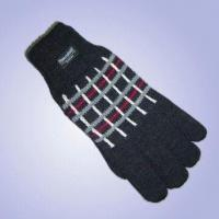 """Quality Men's Acrylic Jacquard Knitted Gloves with Thinsulateâ""""¢ Lining for sale"""