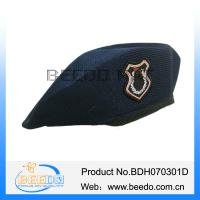 China 100% polyester military mens beret hat for army uniform on sale