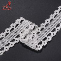 Buy cheap Stretch Border Lace Trim White Lace Cotton Lace Trim Clothing Tags from wholesalers